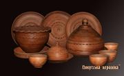 Набір гончарного посуду до Масляни