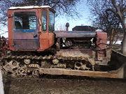 трактор дт-75 з бульдозером