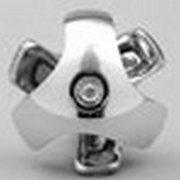 Соединитель 3-х труб,  хромированный,  502/R2