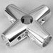Соединитель 5-и труб,  хромированный фиксированный 584/R-45