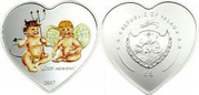 Цветная,  серебряная монета