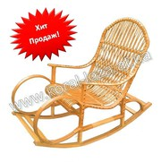 Кресло-качалка плетеное